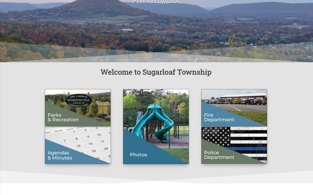 Sugar Creative launches new website for Sugarloaf Township
